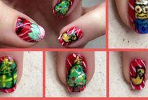 Mes Nail art d'hiver / Les Nail arts du mois de décembre que j'ai moi-même réalisé sur mes propres ongles