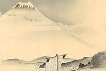 Japanese Landscapes / woodprints, sketches, painting