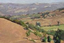 Aerial Perspective, Landscape painting / atmospheric perspective, aerial landscape art.