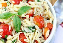 Pasta and grains salads