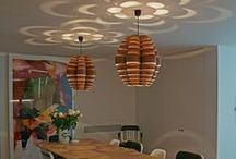 Wood lamps for home / Wooden lighting in private homes. Handmade designs in wood veneer inspired by scandinavian design