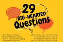 """BIG talk with little ones / Grow big hearts with creative conversation starters. We all grow our empathy """"muscles"""" by stepping into the shoes of another, and wondering together about big ideas."""