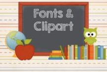 clipart/frames/fonts / by AMC