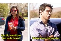 """""""Did you stop at the snack bar?"""" / Mindy Project."""