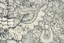 Zen tangles and doodles