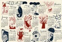Calendars / Nos encantan los calendarios con bonitas ilustraciones!!!