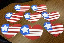 Crafty Patriotism / Perfect for sending cards, thanks, and love to http://www.amillionthanks.org/