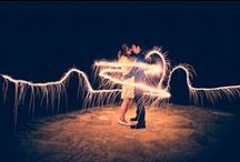 Sparklers / Sparklers and Sparkles toward the end, For more wedding shots go to my board wedding  / by Jocelyn Rodriguez