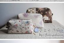 patchwork cosmetics bags