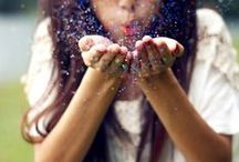 Blowing Glitter Wishes / Blowing Glitter,sparkles / by Jocelyn Rodriguez