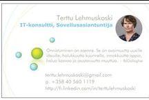 Job / IT-ammattilainen. Tutustu tarkemmin  http://fi.linkedin.com/in/terttulehmuskoski/  Etsin uusia haasteita. Tarjoan yritykselle monipuolista kokemusta ja haluan oppia uutta.
