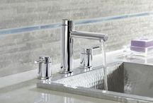 Moen Align Faucets / From large, open master baths to minimalist powder rooms, Align faucets and accessories bring a refreshed modern look to your home with simple lines and contemporary style.