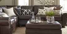 Darryl... / Brown leather sofas