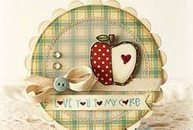 Circular/oval cards/tags and toppers inspiration