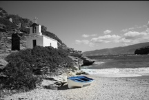 Andros beaches / Beautiful beaches of Andros island, Greece.