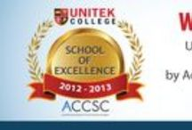 ACCSC School of Excellence / The Accrediting Commission of Career Schools and Colleges (ACCSC) is an accrediting agency recognized by the U.S. Department of Education. The ACCSC recognized Unitek College as a School of Excellence for 2013-2014. The coveted School of Excellence Award for 2013-2014 and was awarded to Unitek College out of a pool of over 800 schools.