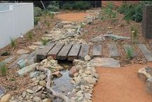 Malvern, Vic / Check out this stunning new entrance we created over in Malvern, complete with a winding creek, stepping stones and a beautiful billabong! The new landscape creates an inviting entrance that will evolve naturally overtime and last for generations to come! We can't wait to see it once those plants have established themselves and brought this garden to life! More at http://ow.ly/oTr3I