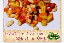 Contorni e insalate con le olive - - - Side dishes and salads with olives
