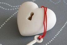 Coraçáo/coeur/heart handmade / Artesanato / by Elizabeth Kasper