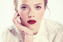 The Red Pout. / Red lipstick - an absolute staple.