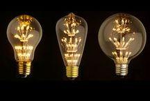 Żarówki / Edison bulb - LED lub tradycyjne, różne kolory swiatła.   Rodzaj 'firework' skutecznie udaje wnętrze kwiatów / pręciki.