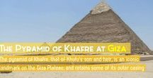 Pyramid of Khafre / Giza's second pyramid belongs to pharaoh Khafre, the son and heir of Khufu who built the Great Pyramid.