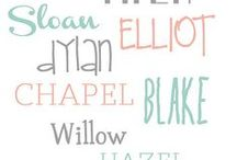Baby Names / Ideas for baby names. You never know when you'll need them! :)