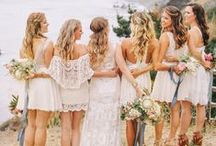 Bohemian Beach Wedding / sandy toes & warm summer nights are the perfect backdrop for a relaxed wedding. natural elements like wood and greenery are the perfect complement to the location & a neutral color scheme adds a dreamy ambiance to your nuptials.