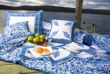 Blue and White Quilts / Unique French Country Style Blue and White Quilt
