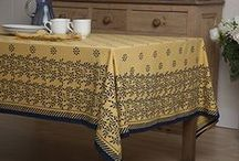 Country Tablecloths / French Country Style Table Linens - Elegant Table Linen - Country Tablecloths