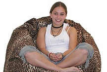 Animal Fur / Removable Cover bean bag chairs in Animal Fur Prints