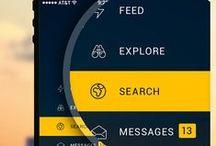 → UI & UX Design ← / UI & UX Design, Mobile app, Button, Icon, Arrow, Dashboard