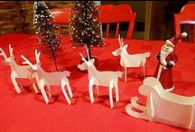 So this is Christmas / Christmas decoration with patterns Santa Claus and the reindeers