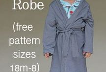 Kids Wear - easy free patterns / Robes, Scarfs, Vests for kids - easy free sewing patterns
