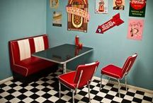 Stars & Stripes / Fancy something a little retro? 1950s American diner decor is always in style.