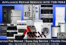 Appliance Repair Service Atech San Francisco / Appliance Technician offers prompt and expert appliance repair services throughout San Francisco and Surrounding areas / $20 OFF any appliance repair job / Open 7 days a week / Flexible hours and lowest prices.
