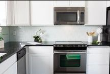 Backsplash Tile / There are so many options, sizes, and ways to set your backsplash tile... we've compiled a few examples to inspire you.