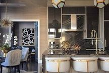 Luxe Living / Who says glam décor is only for the living room? Embrace the luxe lifestyle in the kitchen & dining room too...