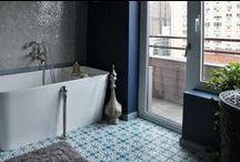 BATHROOMS w/ MH / Inspiring client bathrooms we've found online and beyond using Mosaic House tiles.