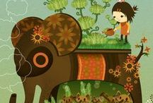 Elephants - Elefant - Fíll / Elephants - Elefant - Fíll Stórfengleg dýr - great animal- mit totumdyr- Baðfílar, fílar í vatni