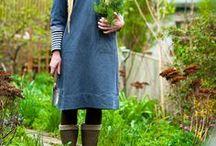 Garden fashion - Have mode / Garden clothing, fashion, style, trends, cloths to wear when you are gardening -  Það er eins og þau öll hafa verið hjá stíllista