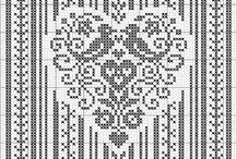 Cross stitch: Hearts