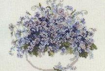 Cross stitch: Flowers
