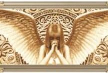 Cross stitch: Angels