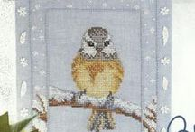 Cross stitch: Birds