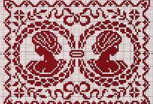 Cross stitch: Ornaments