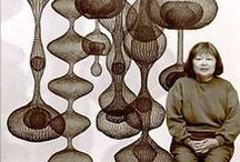 Ruth Asawa / Japanese-American sculptor (January 24, 1926 - August 5, 2013)