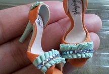 Polymer clay shoes