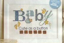 Cross stitch: Baby