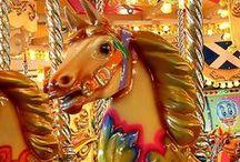 Merry go round horses, carousel
